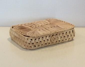 Seagrass Lidded Basket Box