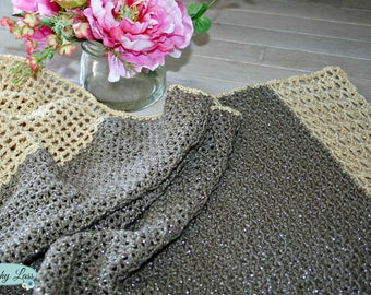 Golden Glamour Shawl Crochet Pattern - Beginner Friendly