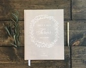 Rustic Country Wedding Guestbook. Custom Rustic Chich Guest Book. Kraft Brown Wedding Decor. Kraft Wedding Book Journal. Rustic Wedding