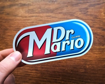 Dr Mario / Dr Pepper Vinyl Sticker