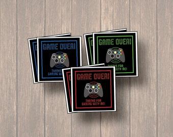 xbox Printable Party Favor Tags, Printable xbox Party Favors, Thank You, Boy Favor Tags, Video Game Favor Tags