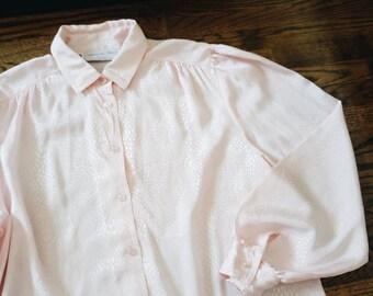 Vintage Pink Long Sleeve Silky Soft Shirt