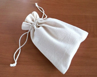 Cotton packaging bags, Reusable pouches, Blank canvas drawstring favor bags, Soap packaging bags, Antique white