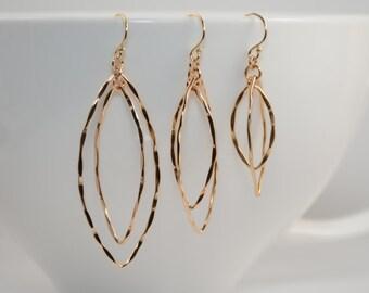 Gold hoop earrings. Gold oval hoop earrings. Gold dangle earrings. Small hoop earrings, Medium hoop earrings, Large hoop earrings