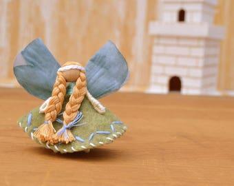Waldorf Fairy Doll - waldorf fairies, felt fairy doll, felt fairies,  miniature fairy doll, miniature fairies, small fairy doll,