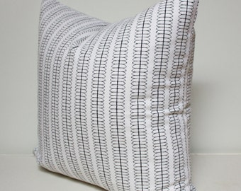 Nate Berkus black & white pattern pillow cover, black and white pillow cover