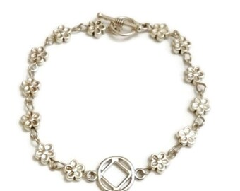 NA Flower Bracelet – Narcotics Anonymous Anonymous 12 Step Recovery