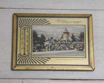 1934 Chicago World's Fair Souvenir - Thermometer - Century of Progress - Black Forest - Art Deco