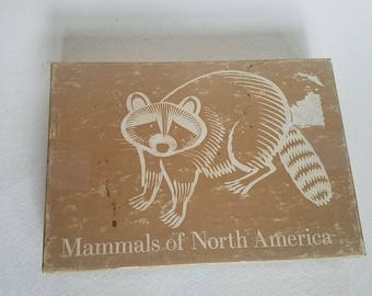 National Audubon Society vintage card set- Mammals of North America. 50 beautifully illustrated cards with illustrations by William D. Berry