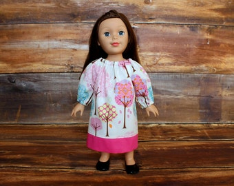 "18"" Doll Peasant Dress ADD-on fits like American Girl doll clothes Valentine's Day gift Easter Our Generation AG OG birthday gift"