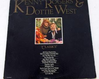 """Kenny Rogers & Dottie West """"Classics"""" Vinyl LP Record UA-LA-946-H"""