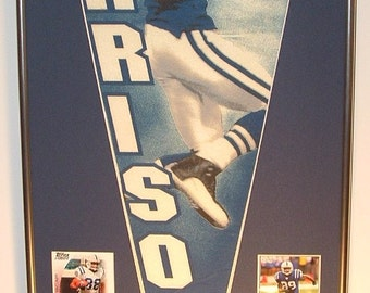 Indianapolis Colts Marvin Harrison Pennant & Cards...Custom Framed!!
