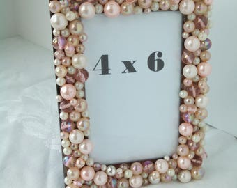 Pink Champagne Bubble Custom 4 x 6 Frame