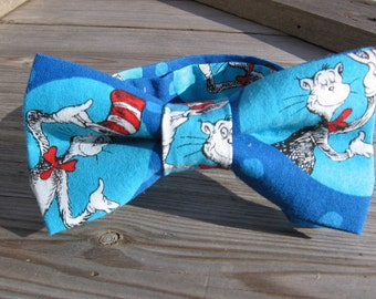 cat in the hat birthday party cat in the hat bow tie cat in the hat photo prop cat in the hat gift boy blue bow tie children blue bow tie
