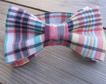 children blue bow tie wedding boys pink bow tie girls pink bow tie ring bear baptism outfit communion groomsman boys navy plaid bow tie