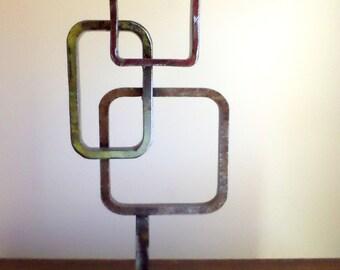 Modern abstract welded metal sculpture