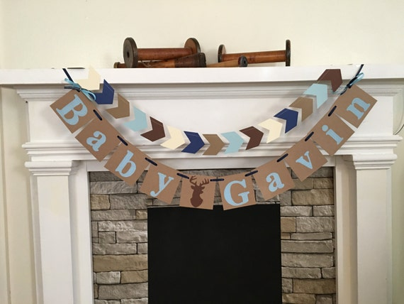 buck baby shower decorations baby name banner oh deer baby shower