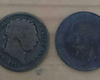 Two old British silver coins