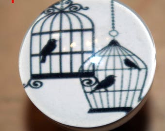 button for convenient bird in a cage