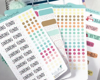 Dave Ramsey Budget Sticker Bundle | Budget Stickers for ECLP / Sinking Funds for Erin Condren Planner / Dave Ramsey Planner Emergency Fund