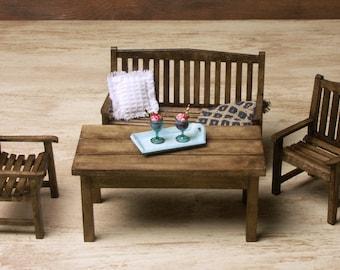 Miniature Garden Table for Your Dollhouse