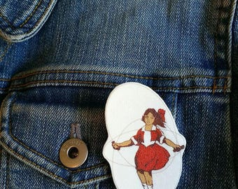 Little Audrey Melbourne Brooch - Skipping Girl Icon