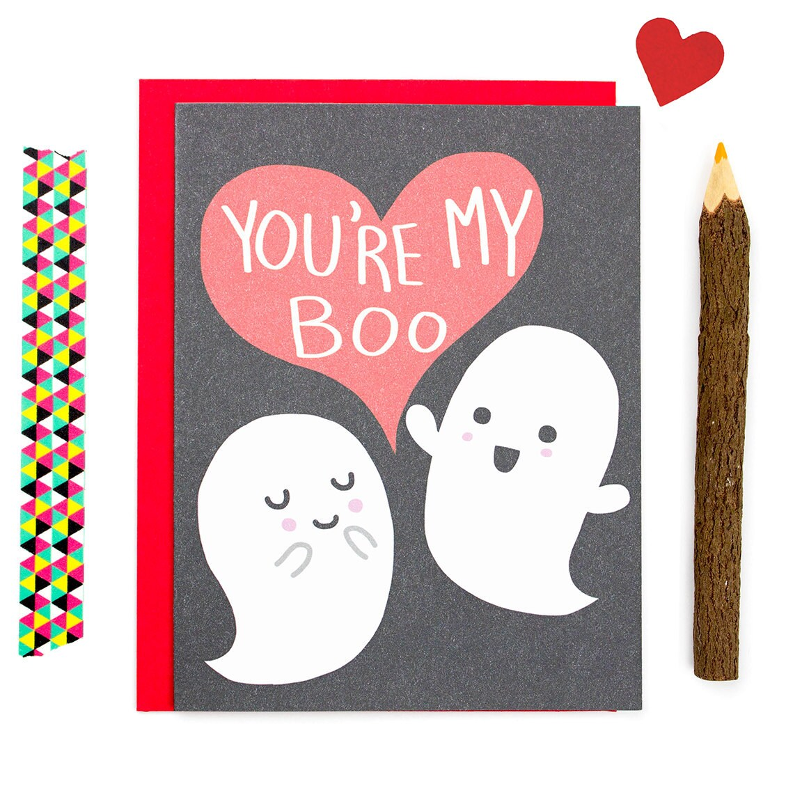 Halloween Love Card Your My Boo Ghost Love Card Funny Card