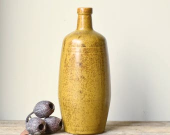 Vintage Stoneware Mustard Bottle or Vase