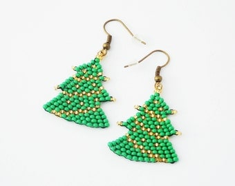 Trendy gifts/for/aunt Merry Christmas earrings decorate tree of life christmas jewelry Christmas tree earrings xmas earrings winter earrings