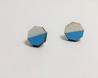 Painted Octagon Earrings