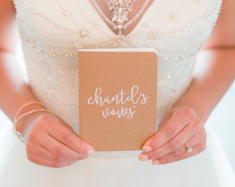 Wedding Vow Books - Set of Two - Personalized Vow Books
