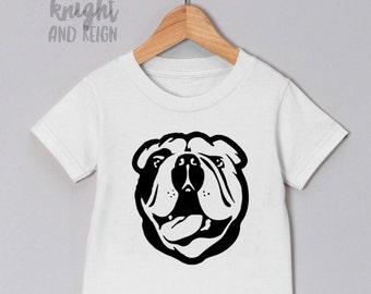 English Bulldog Monochrome Design Toddler Infant Newborn Adult Shirt