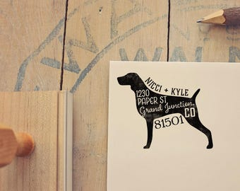 Weimaraner Address Stamp - Dog Return Address Stamp - Dog Lover Gift - Rubber Stamp - Personalized Pet Address Stamp