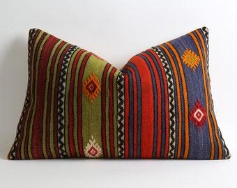 16x24 kilim cushion, kilim pillow, kilim, bohemian pillow, decorative pillow, kilim pillow cover, pillow, turkish pillow, kilim cushions