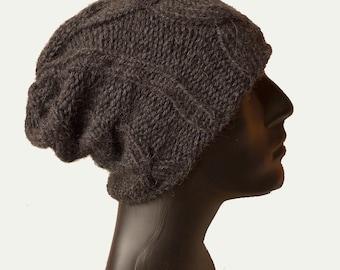 Knit Hat Men / Men's Hat / Warm Winter Hat / Beanie Hat / Mens Beanie / Hat / Cable Knit/ Men Hats / Thick Winter Hat / Gift / Hand Knit Hat
