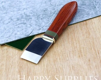 Skving knife, Leather Tool Knife, Leather Cutting Thinning, Leathercraft Skiving Tool, Roughing and Leather Cutting (Made in Japan)