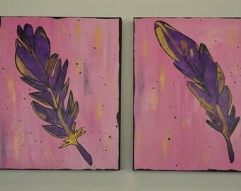 Purple Feather set
