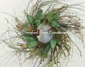 Winter Wreath, Holiday Wreath, Christmas Wreath, Twig Wreath, Winter Door Decor, Wispy Wreath, Holiday Door Decor, Rustic Christmas