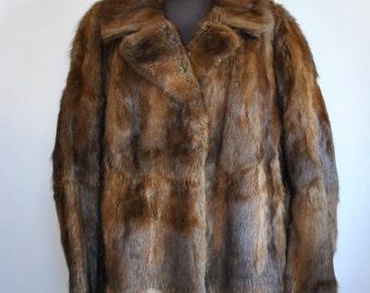 Vintage MINK FUR FULL length coat , vintage fur coat ......(194)
