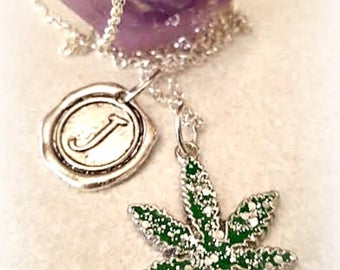Personalized Weed Necklace,Cannabis 420 Marijuana Jewelry,Bohochic,Summer Party,Summer Outdoors,Hippie Rocker Hipster,Festival,Pot Jewelry,