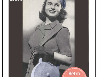 1950s Hat and Bag Vintage Crochet Pattern - PDF Instant Download