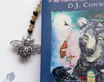 Steampunk bumble bee bookmark