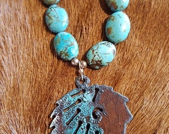Native Chief Turquoise Necklace