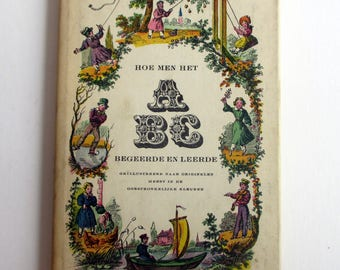 Old Dutch Book on Antique ABC Primers / Alphabets.