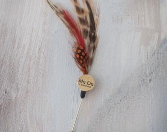Mandarin Feather Pin