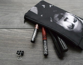 dracula - lined twill pencil case - double sided print - universal monsters -  bela lugosi