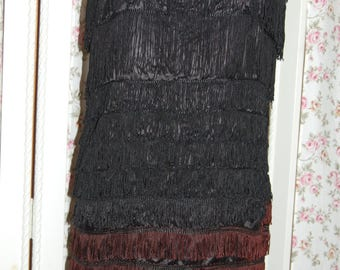 Flapper dress has lots of movement with all the fringe
