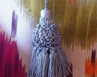 """Key Tassel to Accent Anywhere in the Home,  3"""" Vintage Tassel, Rayon Blend"""