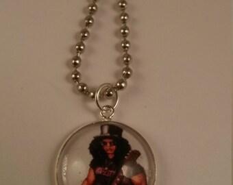 Slash Music Rock n Roll Handmade Charm Necklace