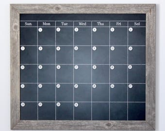 large chalkboard calendar magnetic and custom framed magnets sold separately